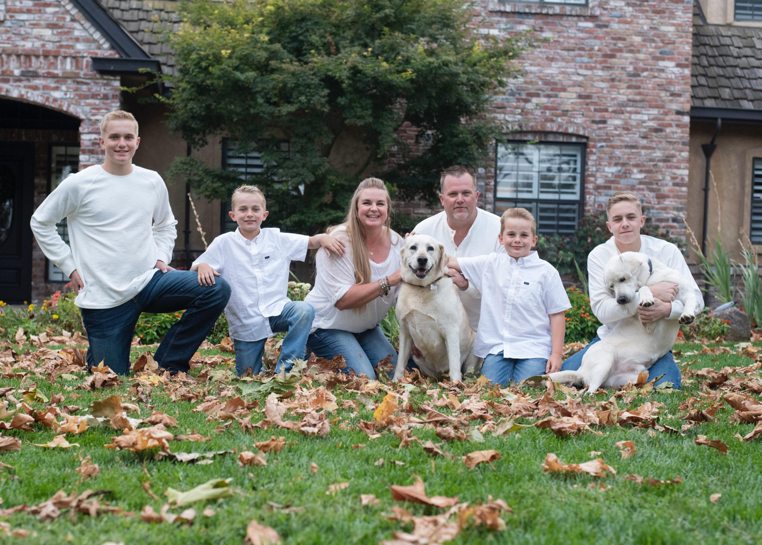 Dan Davis and his family